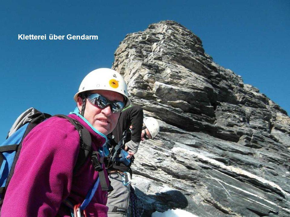 Kletterei über Gendarm
