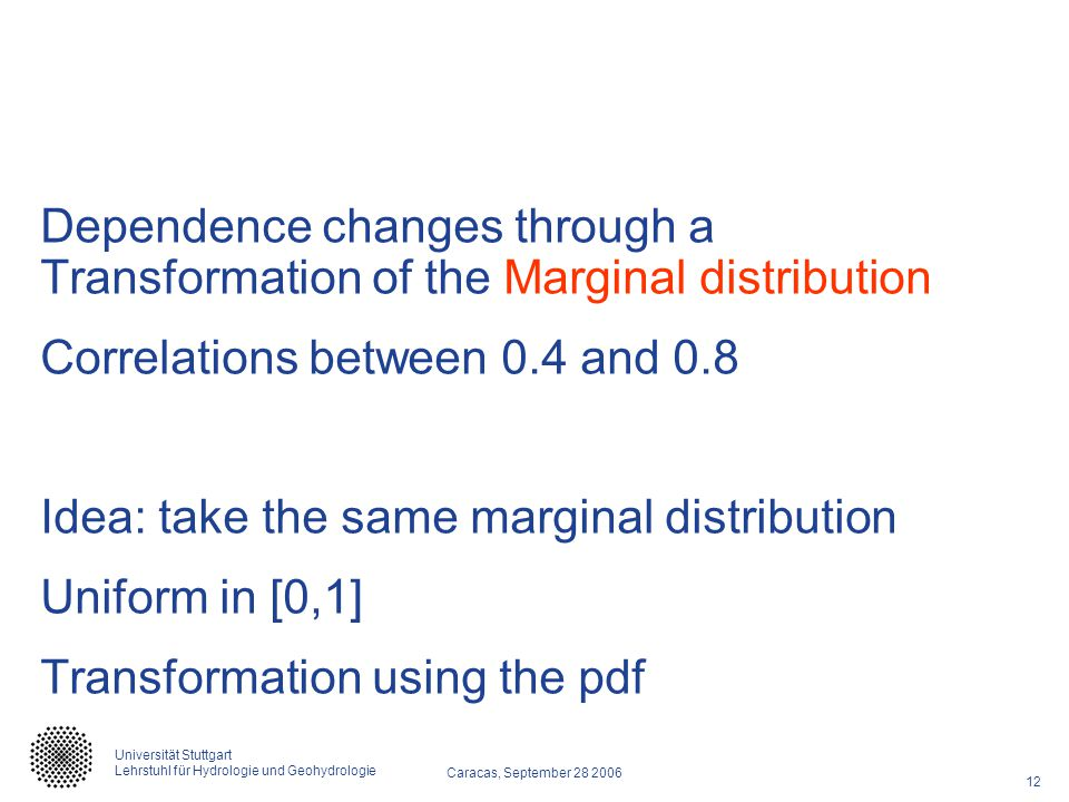 Dependence changes through a Transformation of the Marginal distribution