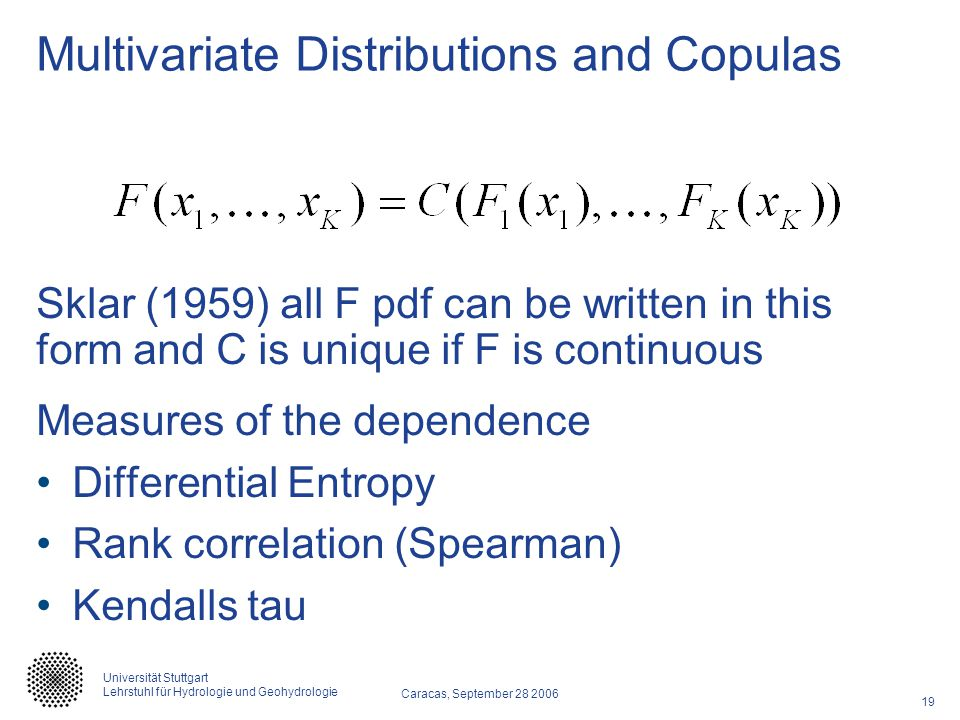 Multivariate Distributions and Copulas