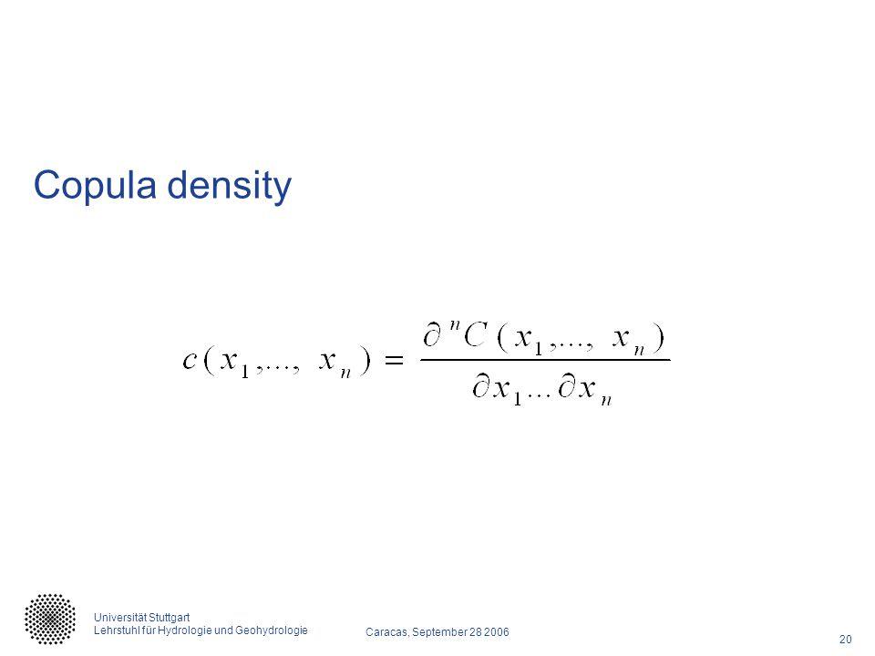 Copula density