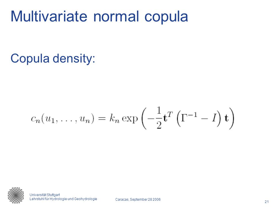 Multivariate normal copula