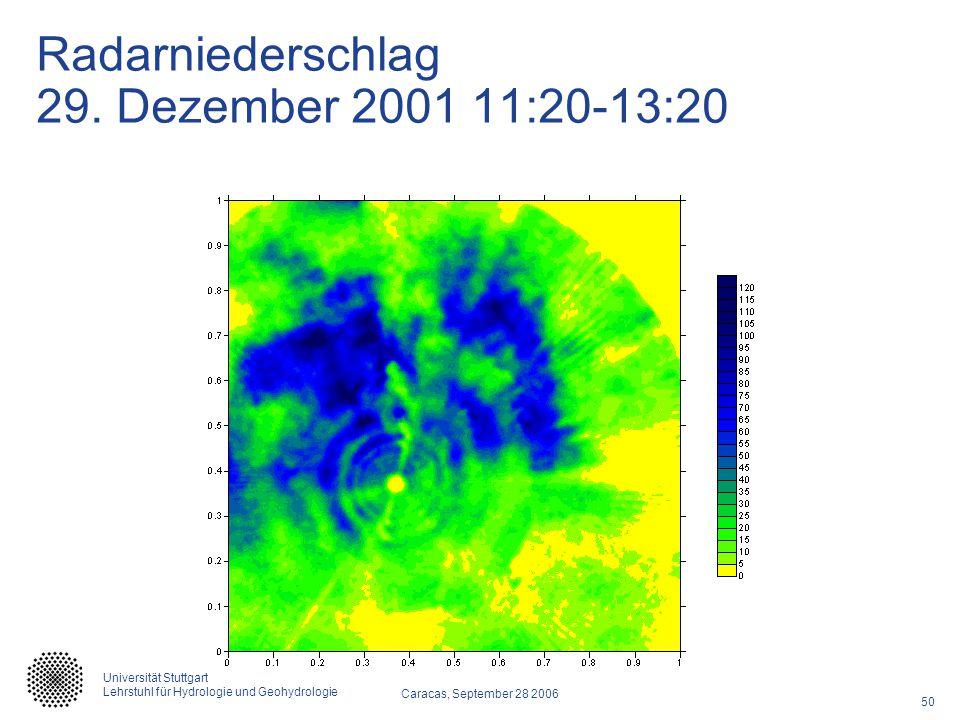 Radarniederschlag 29. Dezember 2001 11:20-13:20