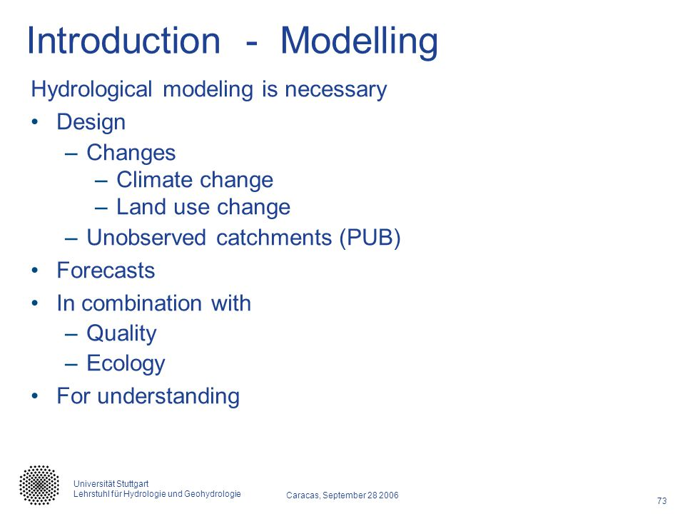 Introduction - Modelling