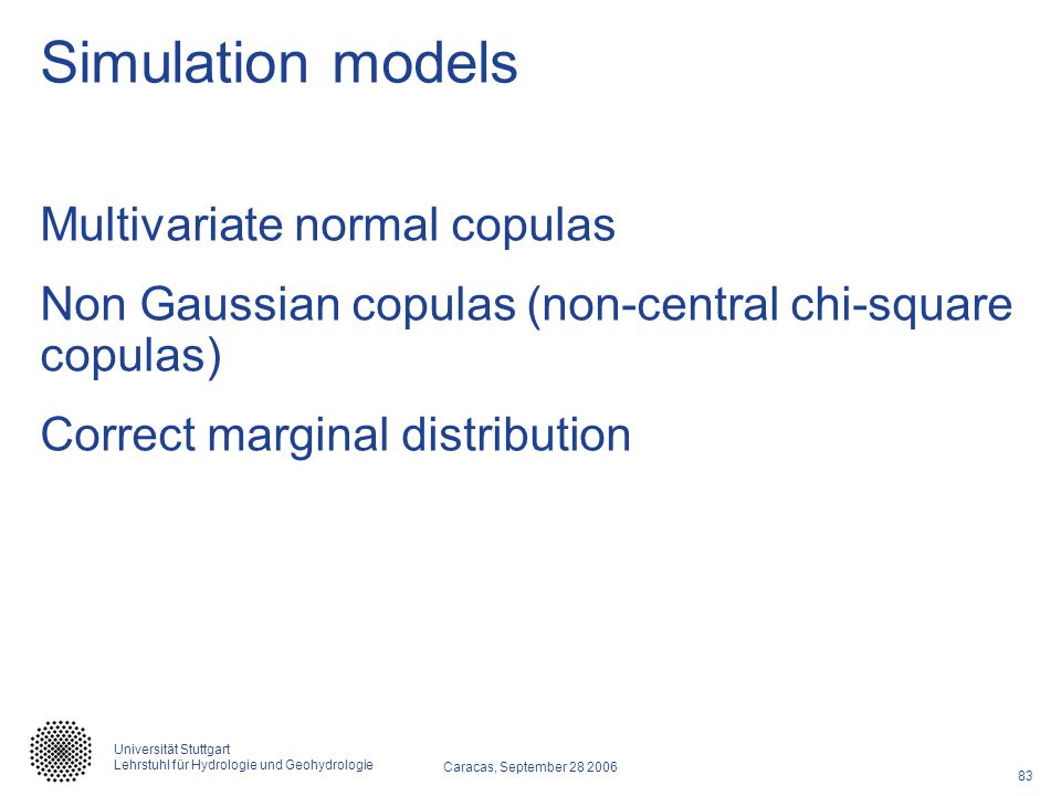 Simulation models Multivariate normal copulas