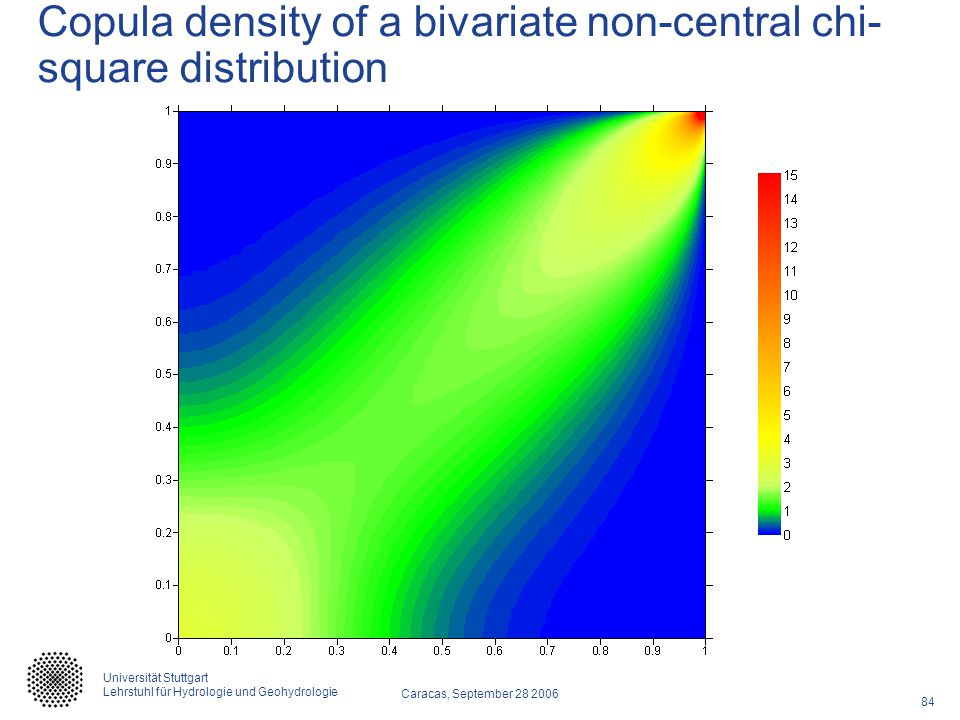 Copula density of a bivariate non-central chi-square distribution