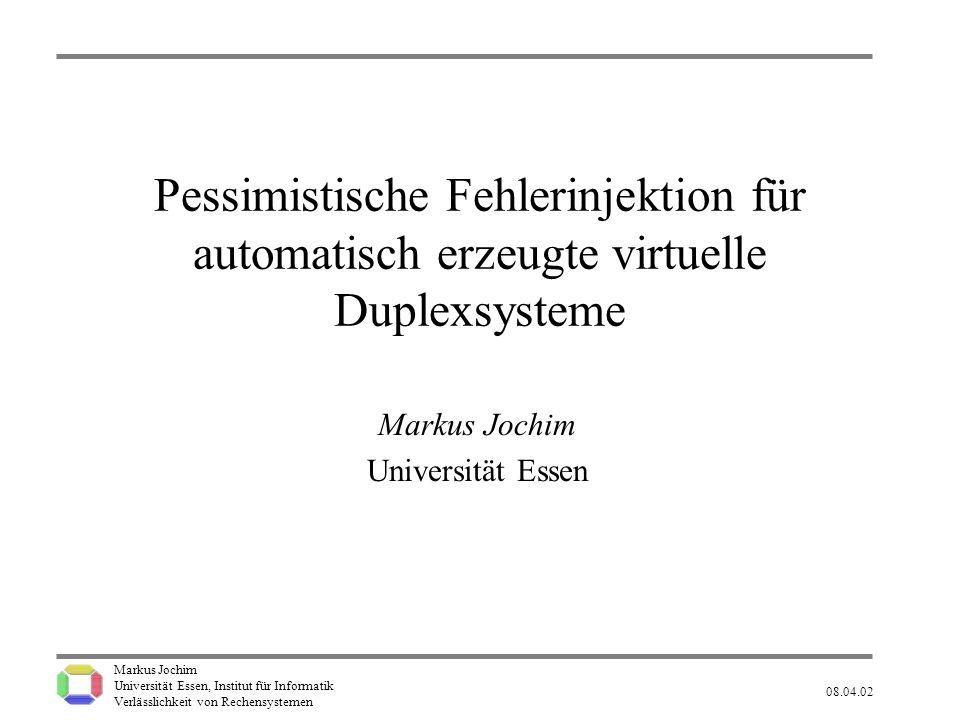 Markus Jochim Universität Essen