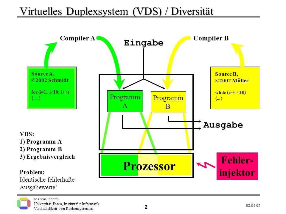 Virtuelles Duplexsystem (VDS) / Diversität