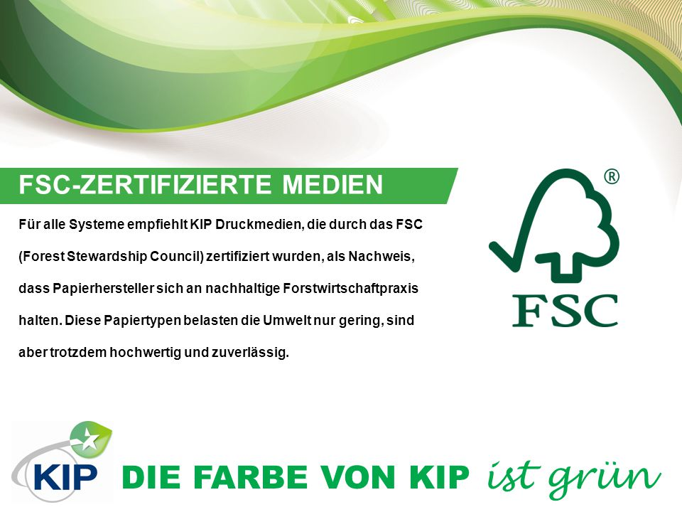 FSC-ZERTIFIZIERTE MEDIEN