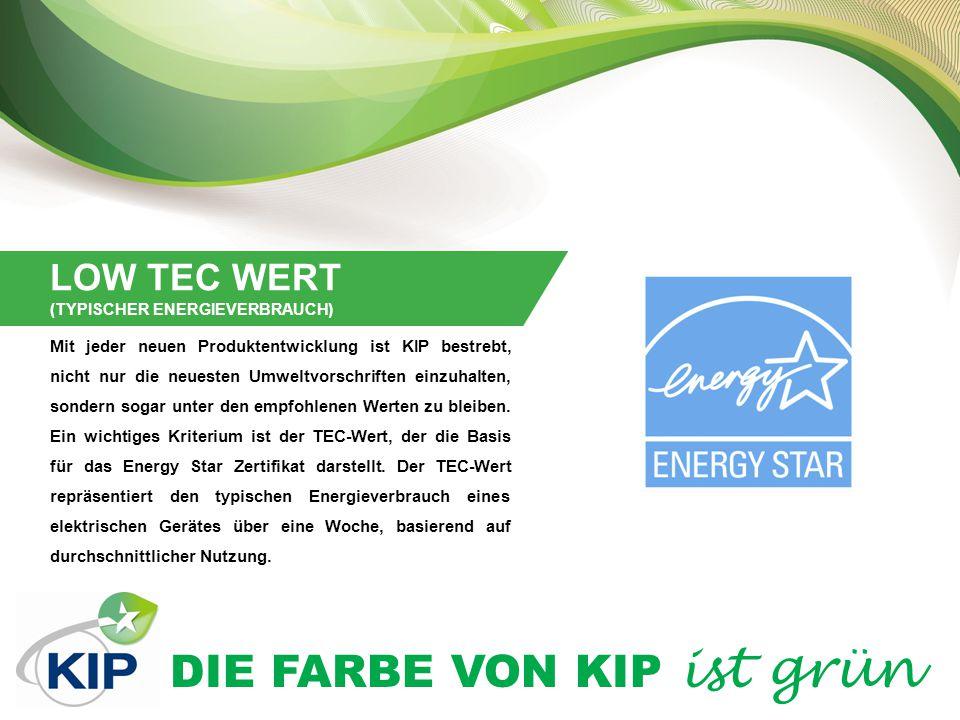 LOW TEC WERT (TYPISCHER ENERGIEVERBRAUCH)