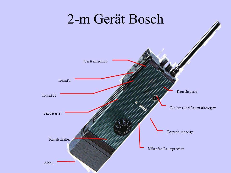 2-m Gerät Bosch Geräteanschluß Tonruf I Rauschsperre Tonruf II