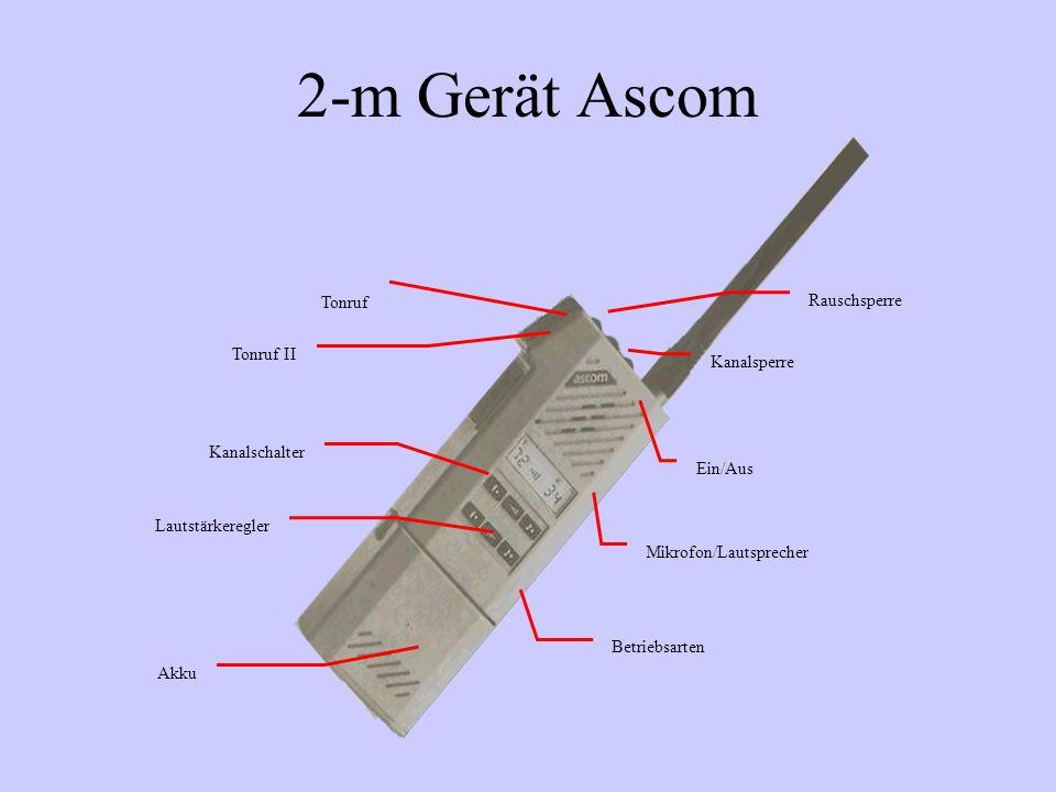 2-m Gerät Ascom Tonruf Rauschsperre Tonruf II Kanalsperre
