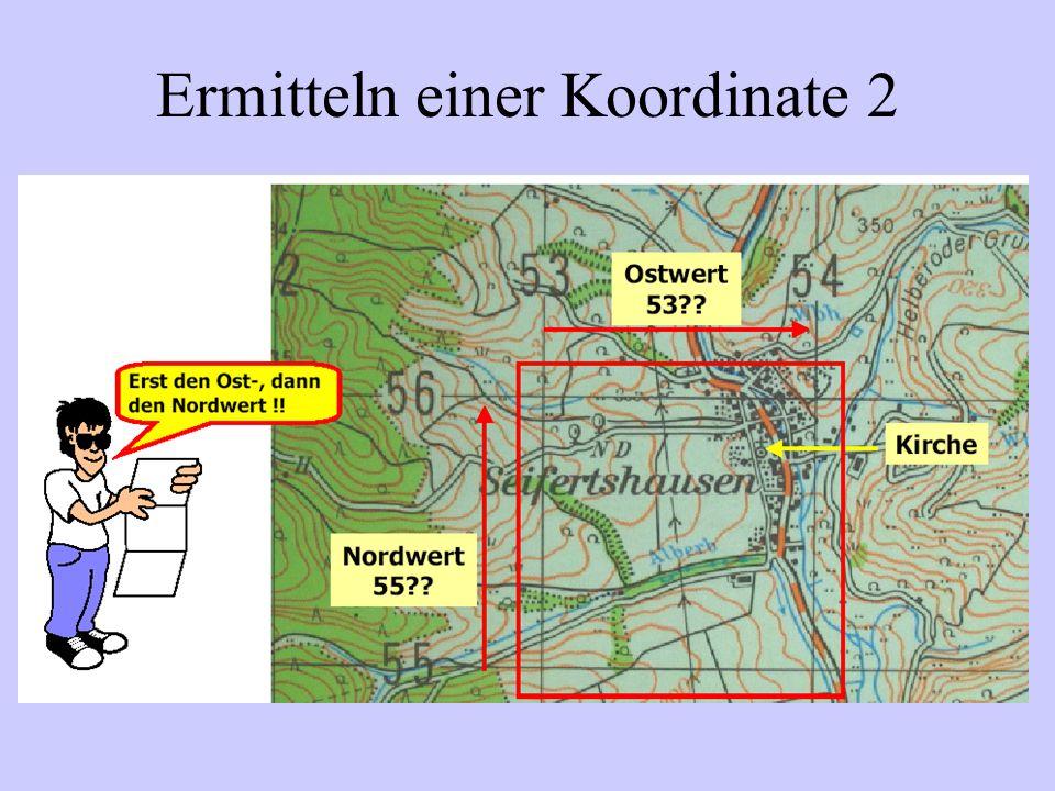 Ermitteln einer Koordinate 2