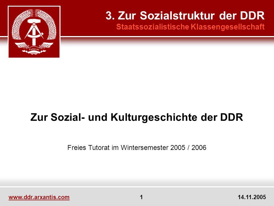 Zur Sozial- und Kulturgeschichte der DDR
