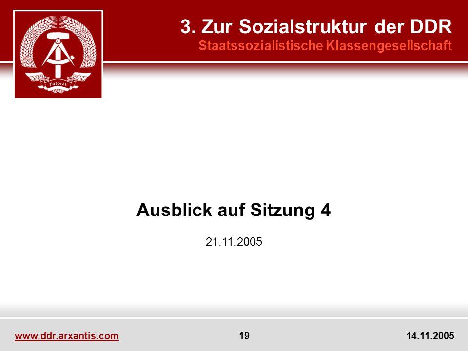 3. Zur Sozialstruktur der DDR