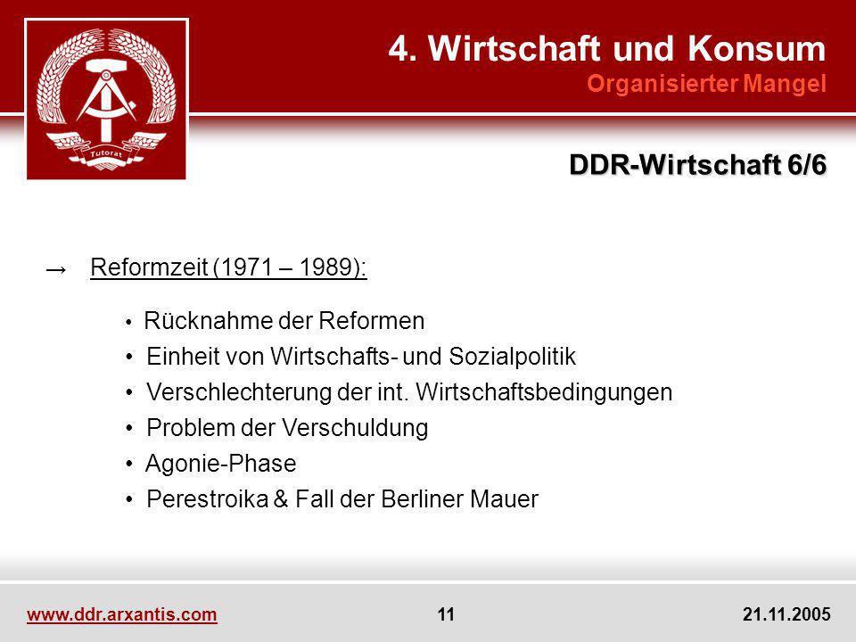 4. Wirtschaft und Konsum DDR-Wirtschaft 6/6 Organisierter Mangel
