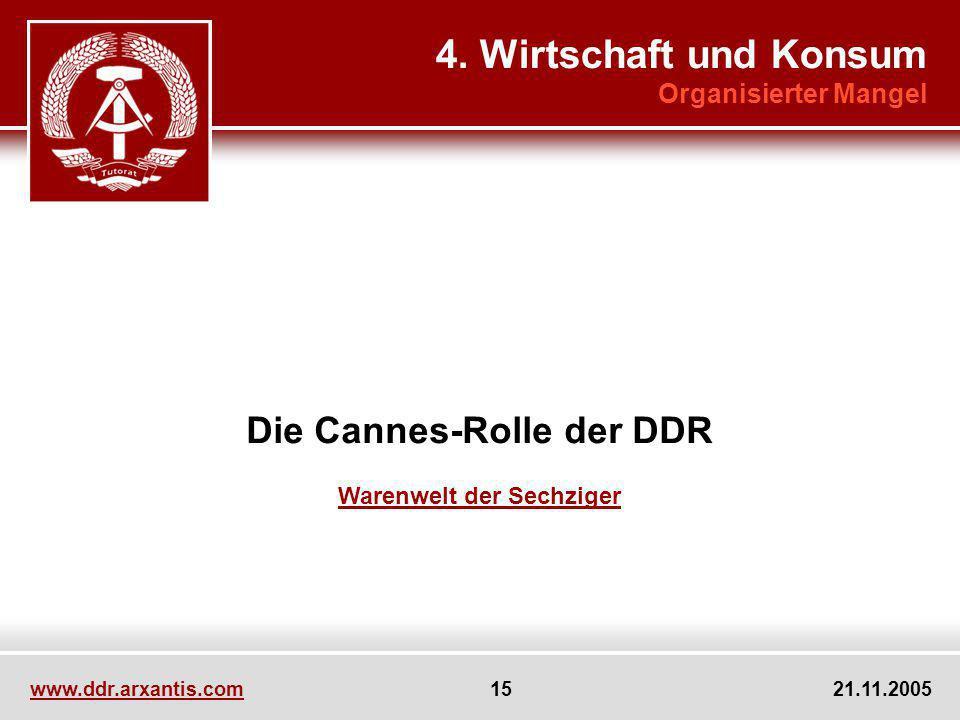 Die Cannes-Rolle der DDR Warenwelt der Sechziger