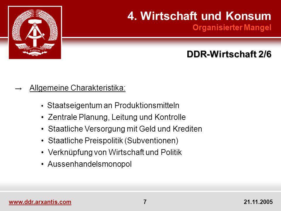 4. Wirtschaft und Konsum DDR-Wirtschaft 2/6 Organisierter Mangel