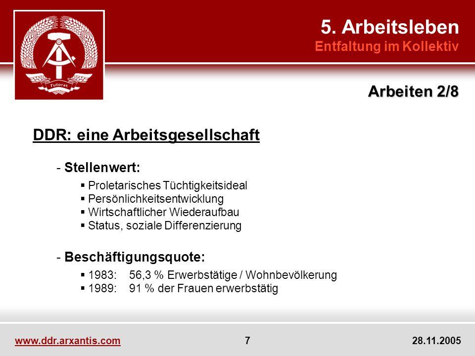 5. Arbeitsleben Arbeiten 2/8 DDR: eine Arbeitsgesellschaft