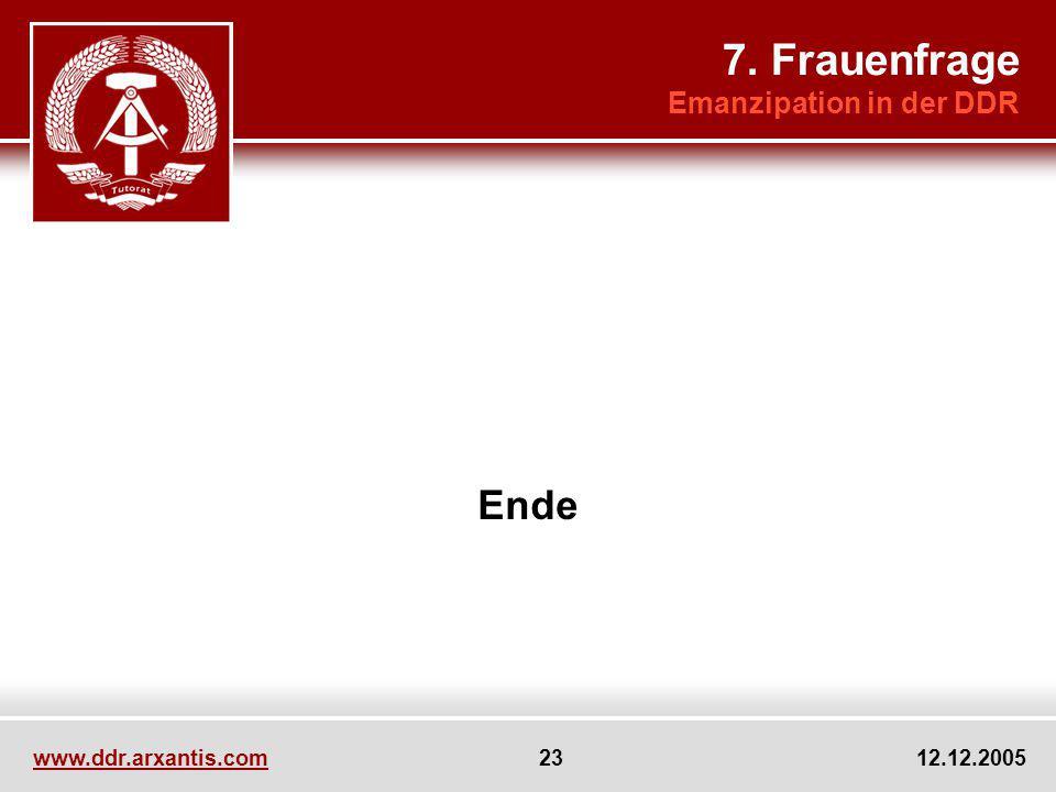 7. Frauenfrage Ende Emanzipation in der DDR