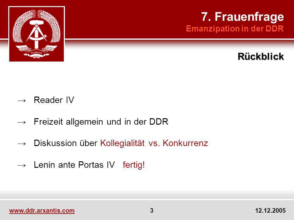7. Frauenfrage Rückblick → Reader IV