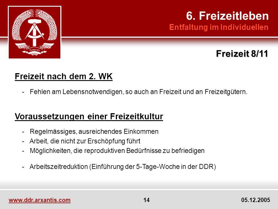6. Freizeitleben Freizeit 8/11 Freizeit nach dem 2. WK