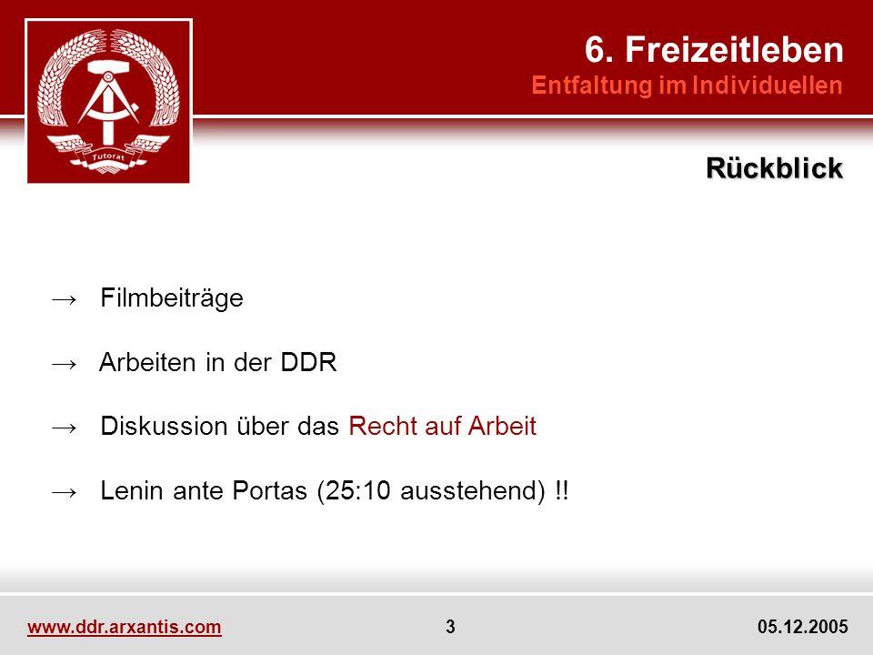 6. Freizeitleben Rückblick → Filmbeiträge → Arbeiten in der DDR