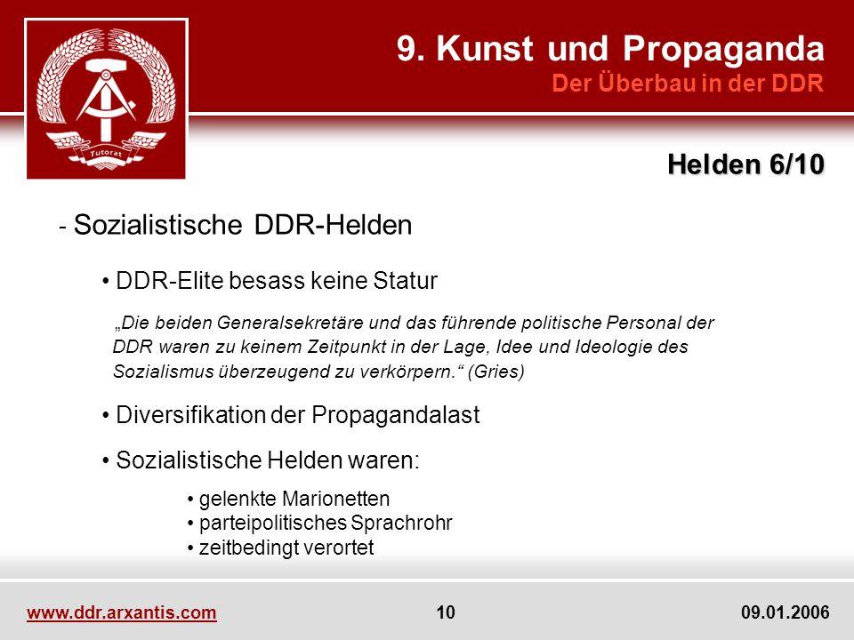 9. Kunst und Propaganda Helden 6/10 Der Überbau in der DDR