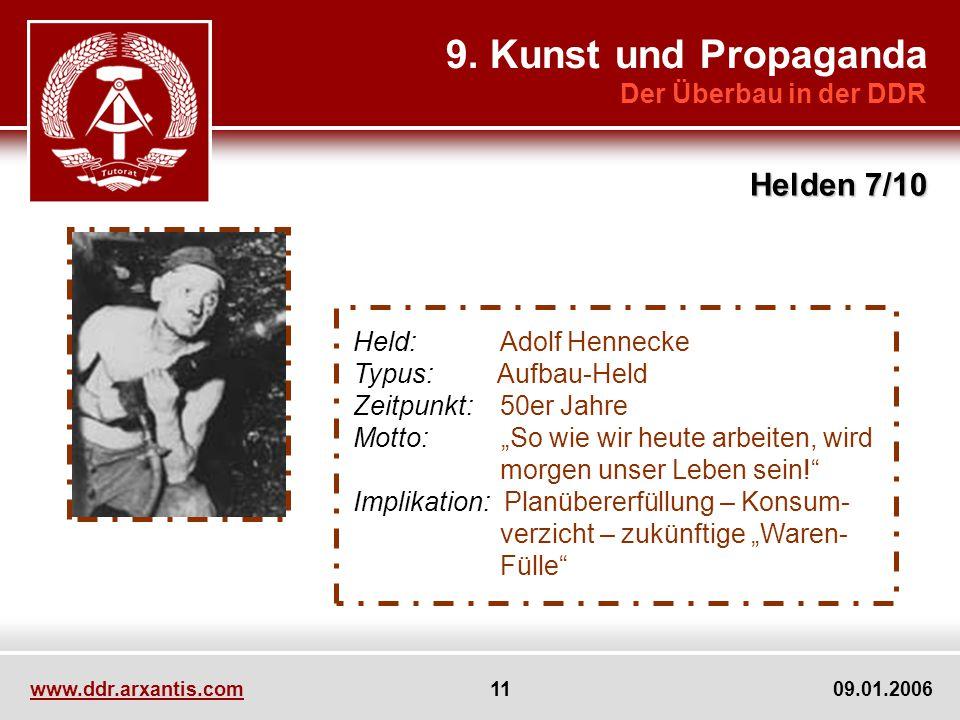 9. Kunst und Propaganda Helden 7/10 Der Überbau in der DDR