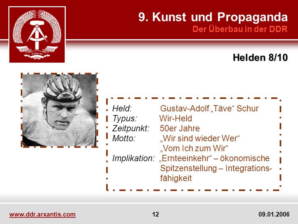 9. Kunst und Propaganda Helden 8/10 Der Überbau in der DDR
