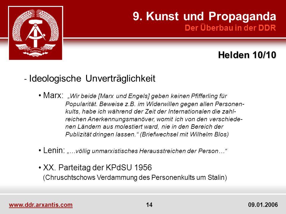 9. Kunst und Propaganda Helden 10/10 Der Überbau in der DDR