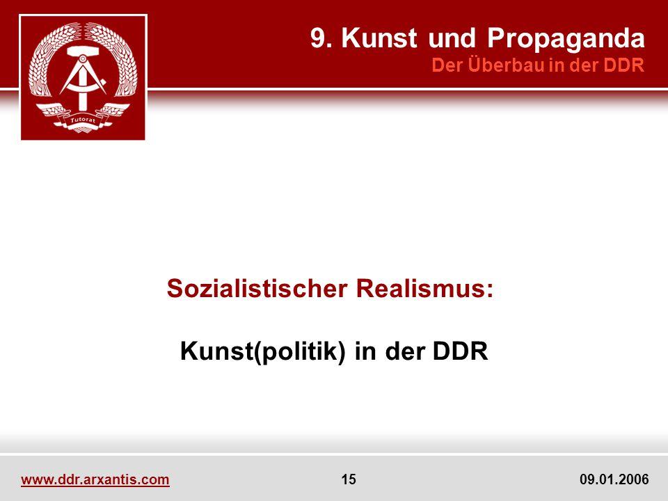 Sozialistischer Realismus: Kunst(politik) in der DDR