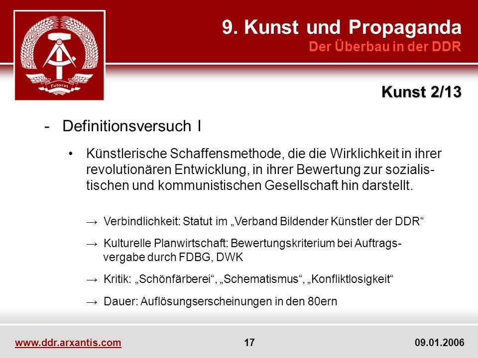 9. Kunst und Propaganda Kunst 2/13 Definitionsversuch I