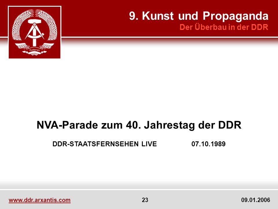 9. Kunst und Propaganda NVA-Parade zum 40. Jahrestag der DDR