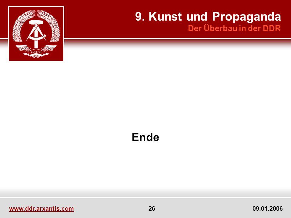 9. Kunst und Propaganda Ende Der Überbau in der DDR