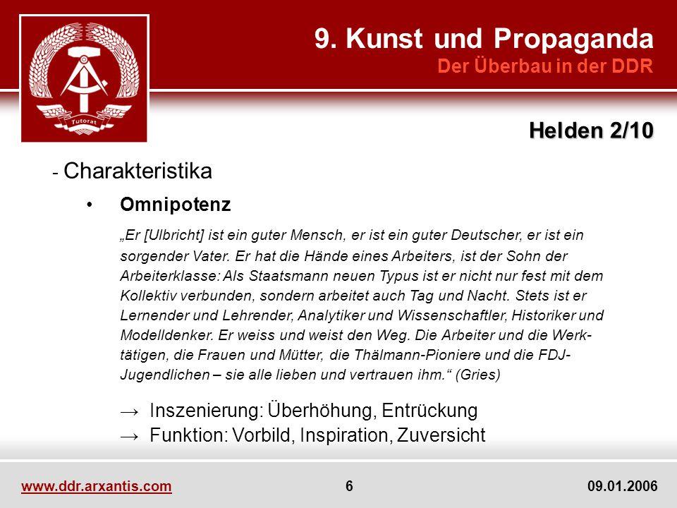 9. Kunst und Propaganda Helden 2/10 Der Überbau in der DDR