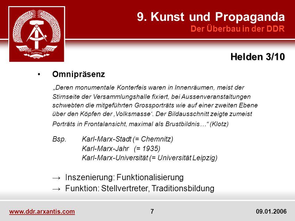 9. Kunst und Propaganda Helden 3/10 Der Überbau in der DDR Omnipräsenz