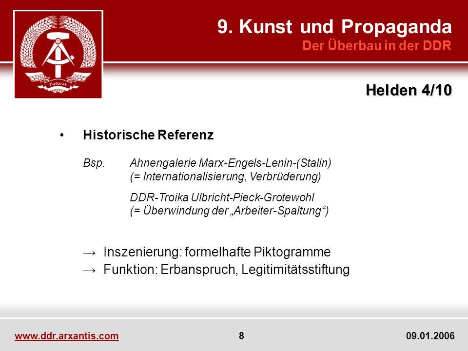 9. Kunst und Propaganda Helden 4/10 Der Überbau in der DDR