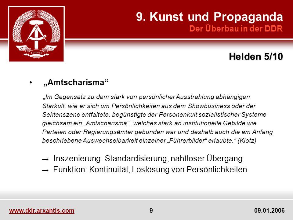 9. Kunst und Propaganda Helden 5/10 Der Überbau in der DDR
