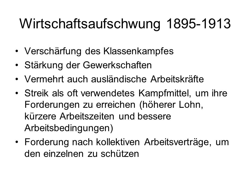 Wirtschaftsaufschwung 1895-1913