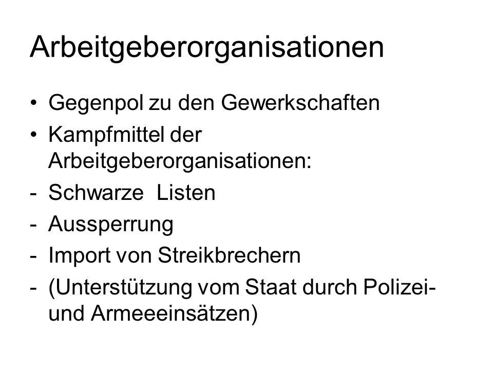 Arbeitgeberorganisationen