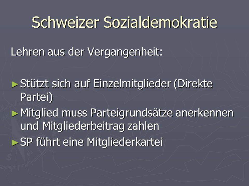 Schweizer Sozialdemokratie
