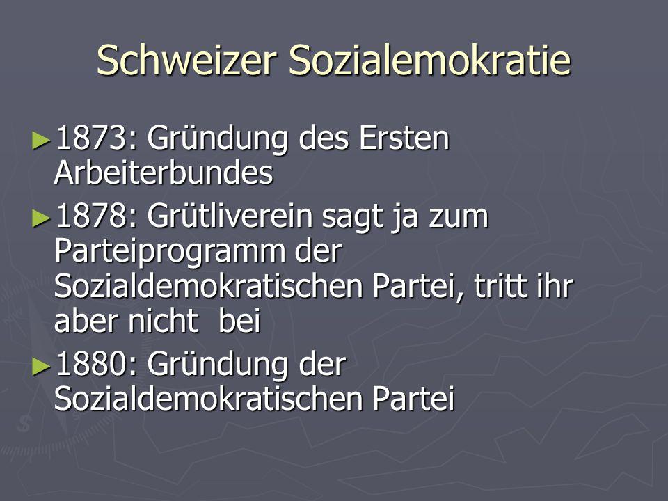 Schweizer Sozialemokratie