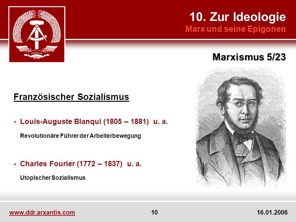 10. Zur Ideologie Marxismus 5/23 Französischer Sozialismus