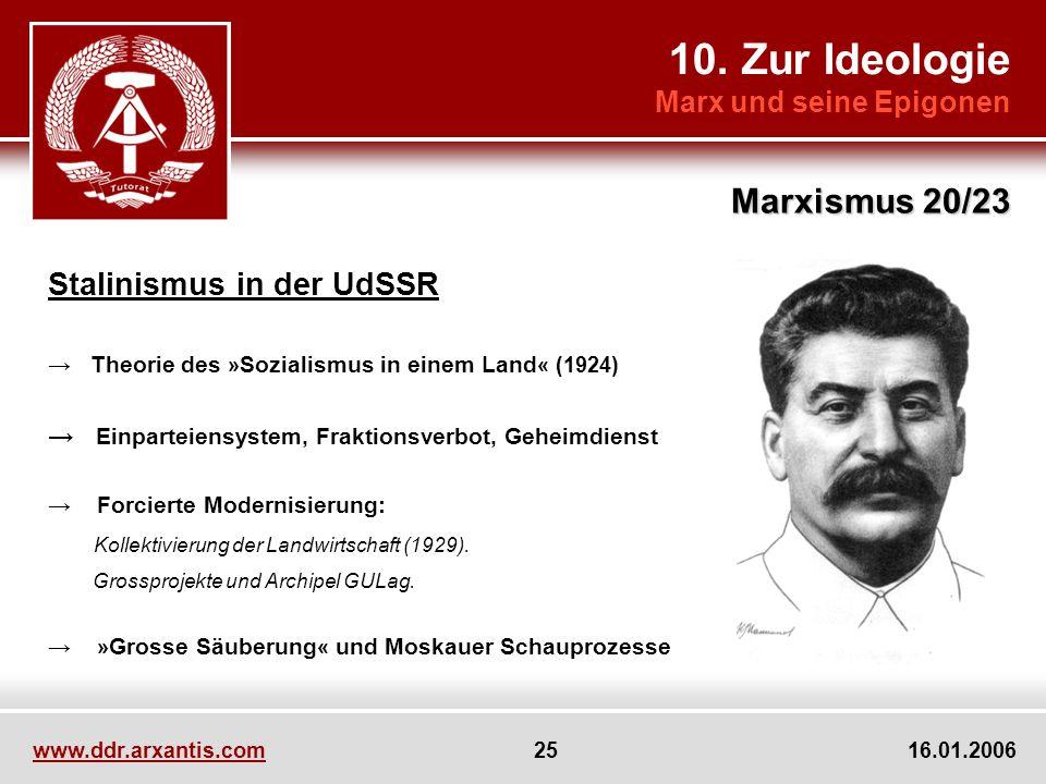 10. Zur Ideologie Marxismus 20/23 Stalinismus in der UdSSR