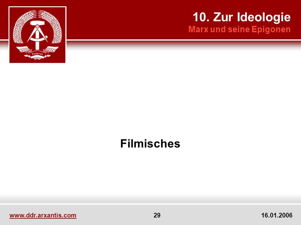 10. Zur Ideologie Filmisches Marx und seine Epigonen