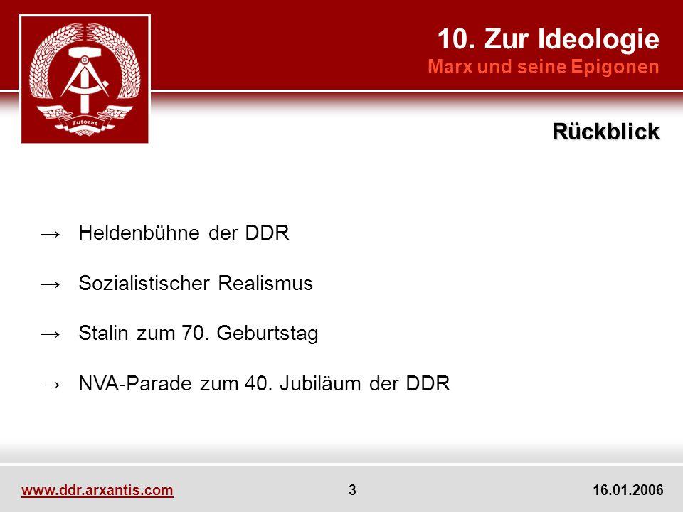 10. Zur Ideologie Rückblick → Heldenbühne der DDR
