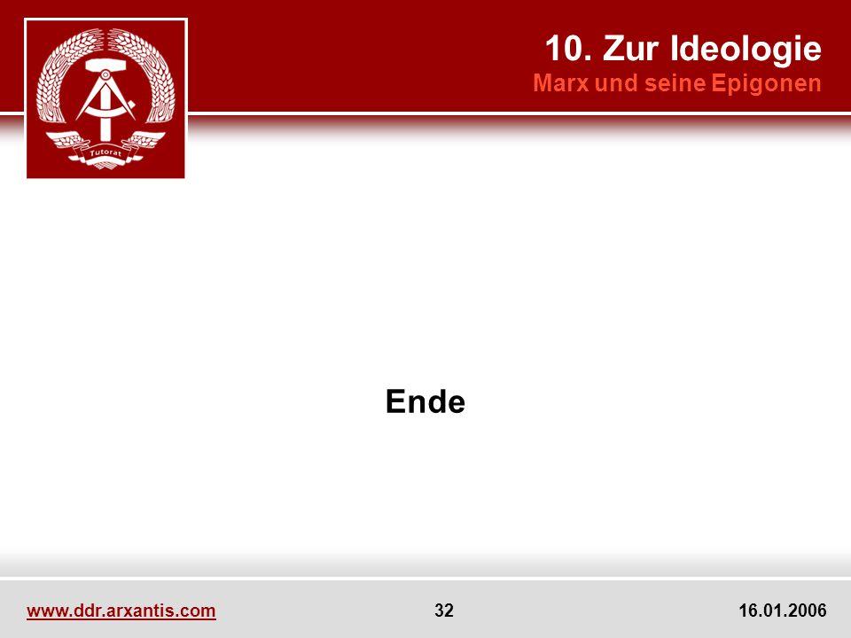 10. Zur Ideologie Ende Marx und seine Epigonen