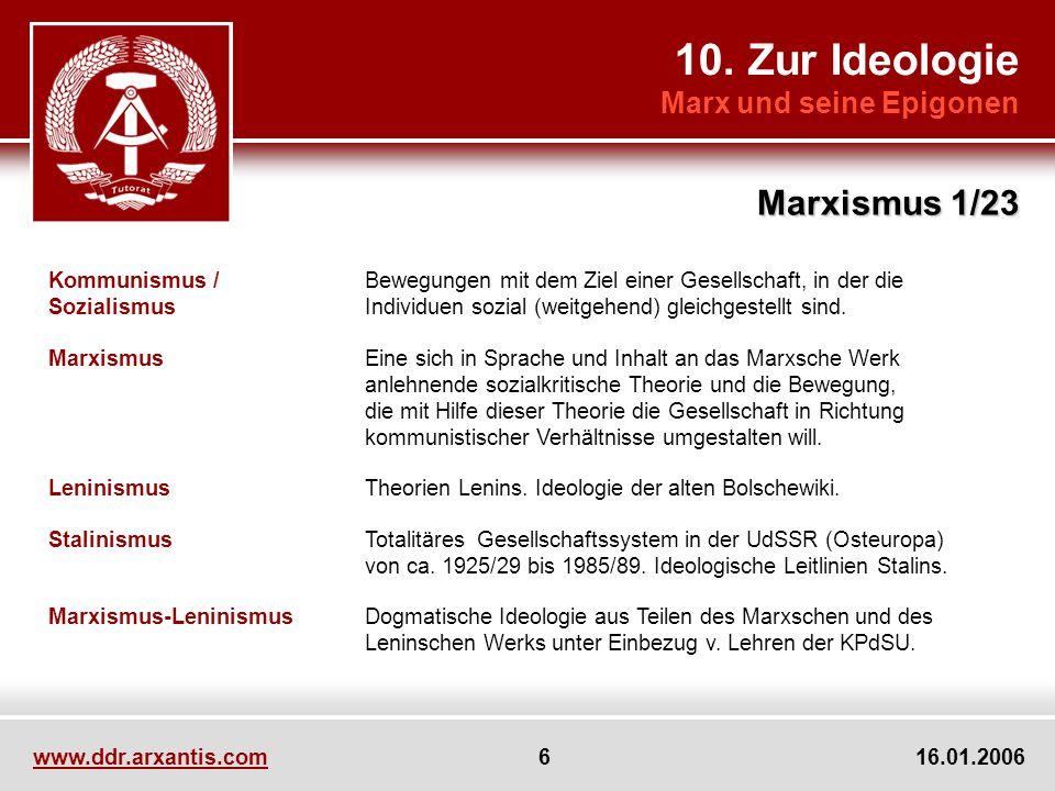 10. Zur Ideologie Marxismus 1/23 Marx und seine Epigonen