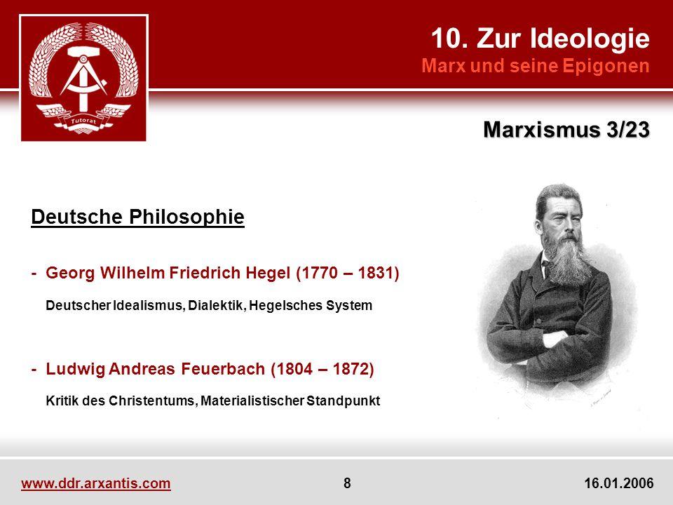 10. Zur Ideologie Marxismus 3/23 Deutsche Philosophie