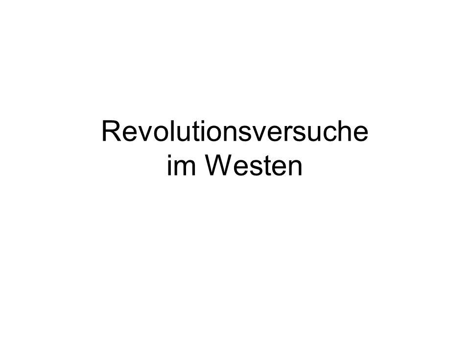 Revolutionsversuche im Westen